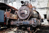 Old Steam Locomotive on the Background Wall Photographic Print by  tereh