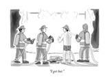 """I got hot."" - New Yorker Cartoon Premium Giclee Print by Charlie Hankin"