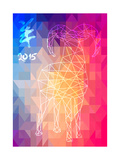 Chinese New Year of the Goat 2015 Abstract Illustration Posters by  cienpies
