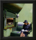 Compartiment C, voiture 293, 1938 Estampe encadrée par Edward Hopper