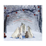 Caroling Wolves Photographic Print by Nancy Tillman