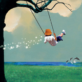Swinging Photographic Print by Nancy Tillman