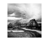 Traditional Japanese House In Gokayama, Toyama Photographic Print by Francesco Libassi