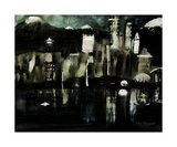 Surreal Seattle Cityscape Photographic Print by Dick Bourgault