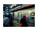 Subway and Red Beanie Photographic Print by Thomas Soerenes