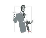 Floating Buddy Holly Fotografisk tryk af Matt Danger