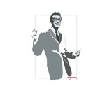 Floating Buddy Holly Photographic Print by Matt Danger