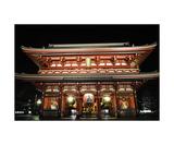 Senso-ji temple at night, Tokyo, Japan Photographic Print by Francesco Libassi