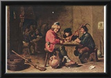 David Teniers d. J. (Three musicians farmers) Art Poster Print Print