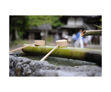 Water basin at temple, Iwate Prefecture, Japan Photographic Print by Francesco Libassi