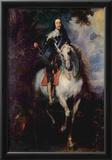 Anthony van Dyck (Portrait of Charles I, King of England) Art Poster Print Prints