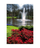 Fountain at Keukenhof Photographic Print by Glenn Aker