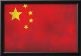 China Flag Distressed Art Print Poster Posters