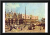 Canaletto (II) (La Piazza San Marco) Art Poster Print Photo