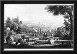 Albert Henry Payne (Fulda, partial view of a mountain woman, background the cathedral and castle) Prints