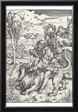 Albrecht Durer (Samson tears the lion) Art Poster Print Prints