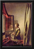 Jan Vermeer van Delft (Letter girls at the open window) Art Poster Print Posters