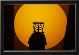 Menorah (In Front of Light) Art Poster Print Posters