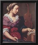 Lorenzo Lippi (Allegory of Music) Art Poster Print Prints