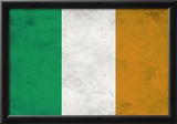 Ireland Flag Distressed Art Print Poster Prints