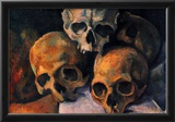 Paul Cezanne (Still lifes, skull pyramid) Art Poster Print Photo