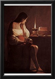 Georges de La Tour (Penitents Maria Magdalena (Magdalena Terfens)) Art Poster Print Posters