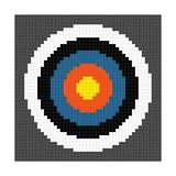 8-Bit Pixel-Art Archery Target Posters by  wongstock