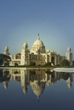 Reflection of a Museum in Water, Victoria Memorial, Kolkata, West Bengal, India Photographic Print by  photosindia