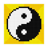 8-Bit Pixel-Art Yin Yang Symbol Prints by  wongstock