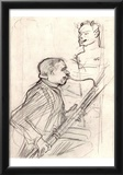 Henri de Toulouse-Lautrec (Desiré Dihau, bassoon playing) Art Poster Print Prints