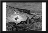 "Gustave Doré (Illustration to Dante's ""Divine Comedy,"" Inferno - Dante and Leopard) Art Poster Prin Prints"