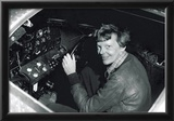 Amelia Earhart in Cockpit Archival Photo Poster Print Prints