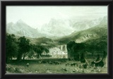 Albert Bierstadt Rockies at Lander's Peak Art Print Poster Posters