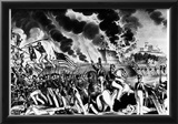 Battle of Molino del Rey (Blowing up the Foundry, Mexican-American War, 1847) Art Poster Print Prints
