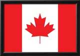 Canada Flag Art Print Poster Posters