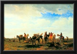 Albert Bierstadt Indians Near Fort Laramie Art Print Poster Photo