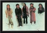 Albert Bierstadt Five Indians Art Print Poster Posters