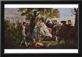 Francis Hayman - A Scene from Shakespeare's As You Like It, Art Poster Print Posters
