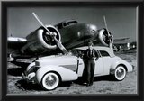 Amelia Earhart with Plane and Car Archival Photo Poster Print Posters