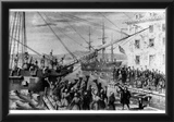 Boston Tea Party (Unloading Boat) Art Poster Print Posters