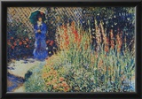 Claude Monet The Peasant Wife's Garden Art Print Poster Prints