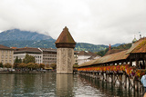 Kapellbrucke on Reuss River, Lucerne, Switzerland Photographic Print by Cultura Travel/Rosanna U