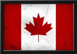 Canada Flag Distressed Art Print Poster Photo