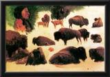Albert Bierstadt Study of Buffaloes Art Print Poster Poster