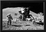 Moon Landing Salute Black White Archival Photo Poster Print Posters