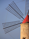 Detail of a Windmill in Trapani Photographic Print by Massimo Pizzotti