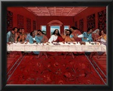 Last Supper Black Jesus Christ religious Print POSTER Prints