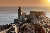 Church of St Peter, Portovenere, Cinque Terre, Liguria, Italy Photographic Print by Cultura Travel/WALTER ZERLA