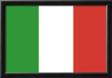 Italy Flag Art Print Poster Posters