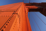 A Golden Gate Bridge Pier in Late Afternoon Sun Photographic Print by Siegfried Layda